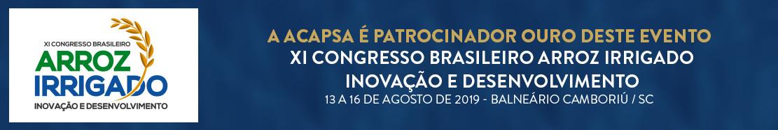 XI Congresso Brasileiro Arroz Irrigado - Acapsa - Associação dos Produtores de Sementes de Arroz Irrigado