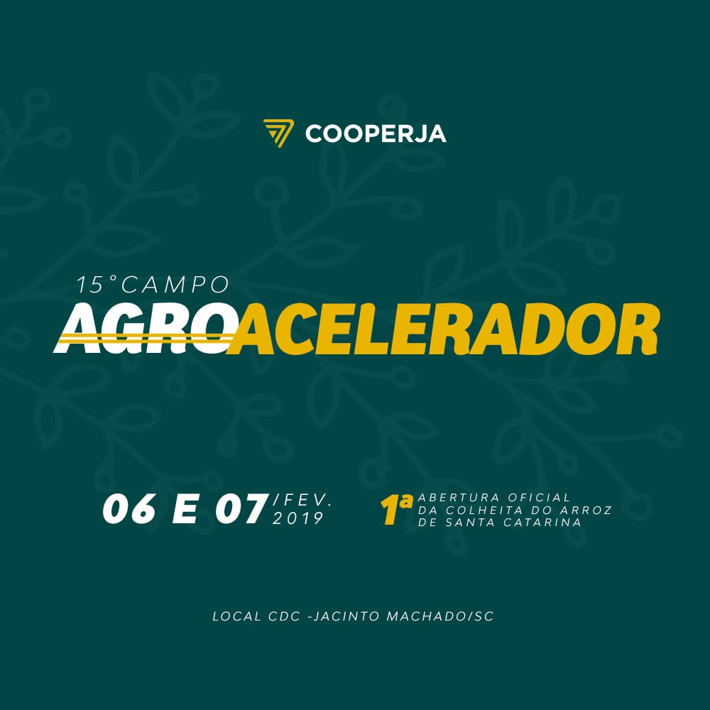 XV CDC COOPERJA - I ABERTURA OFICIAL DA COLHEITA DE ARROZ DE SANTA CATARINA